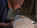 002 Mohammed Tuanie Ismail makes the plywood molds for the Magan Boat model (scale 1:15)